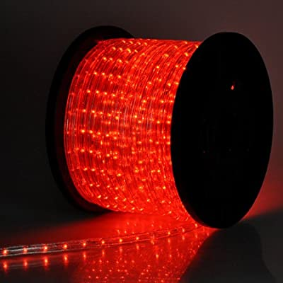 Christmas Lighting LED Rope Light 150ft Red w/ Connector