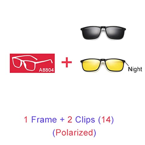 Yangjing-hl Gafas de Sol magnéticas Hombres 5 en 1 Clip ...