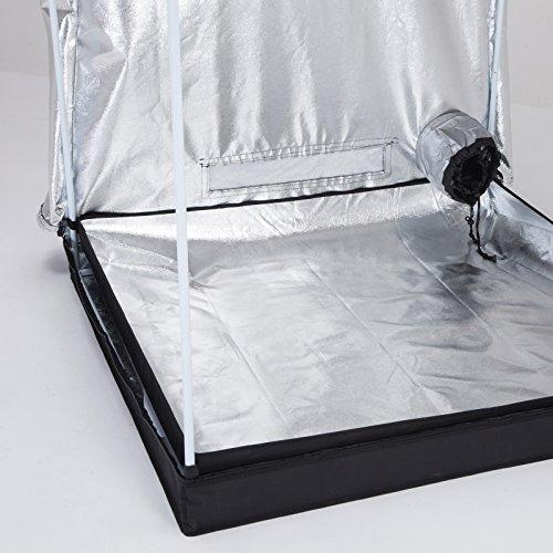 "51l83jstvoL - iPyarmid 48""x48""x78"" Indoor Grow Tent Room Reflective 600D Mylar Hydroponic Non Toxic Hut"