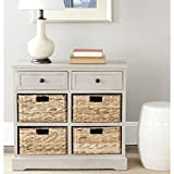 best modern home office furniture collections Safavieh American Homes Collection Herman Vintage Grey Storage Unit
