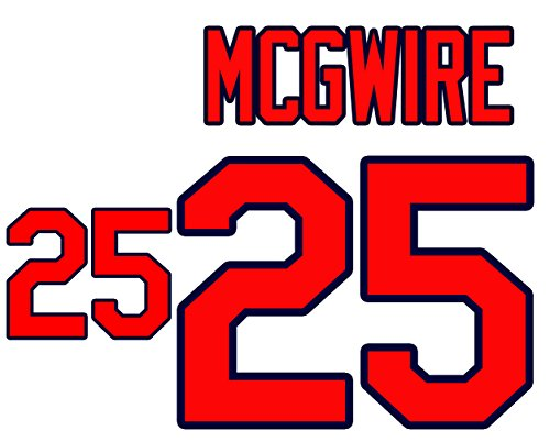 (Mark McGwire St. Louis Cardinals Jersey Number Kit, Authentic Home Jersey Any Name or Number Available)
