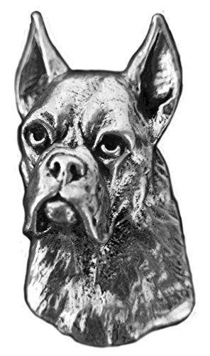 Precious Breeds Antique Pewter Boxer (Pewter Lapel Dog Pin)