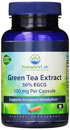 - Nature's Lab Green Tea Extract 50% EGCG Capsules, 500 mg, 90 Count by Nature's Lab