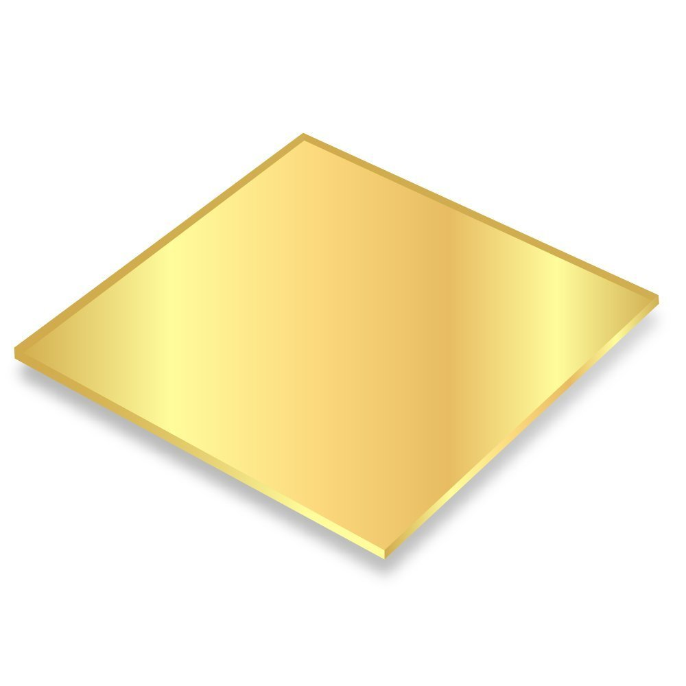Falken Design falkenacrylic/_MIRRORg/_118/_7x7 Acrylic Sheet Mirror Gold 7 Length 7 Width CYRO-Evonik 7 Length 7 Width
