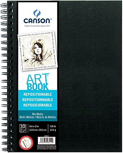"CANSON Repositionable Mix Media Art Book, 9""X12"""