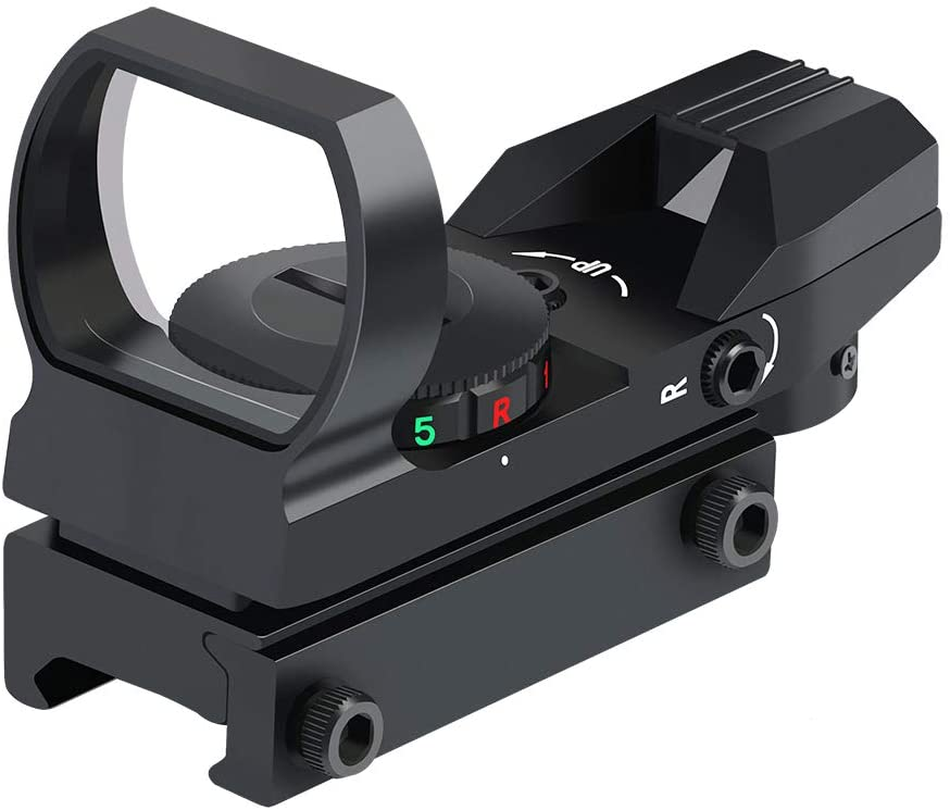 Feyachi Reflex Sight - Adjustable Reticle (4 Styles) Both Red and Green in one Sight! : Sports & Outdoors