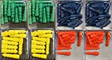 "Pack of 200 Plastic Anchors, Assorted Colors, 1"" Long, Assorted Thickness"