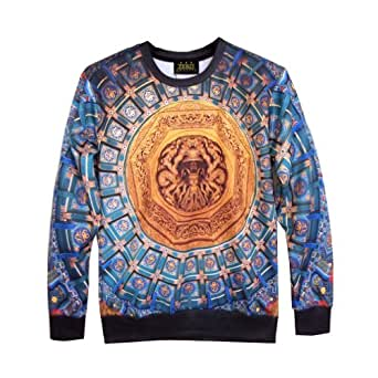 Zero Unisex Top Hipster Punk Rock Galaxy Exaggerating Sweater T Shirts (L ( US Size M ), Y0414-No14)