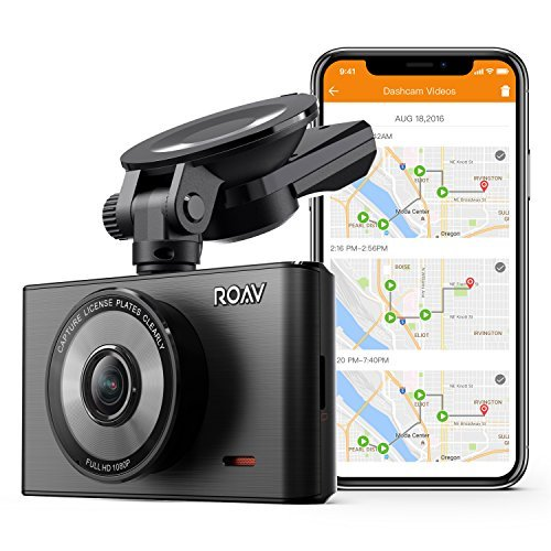 Roav by Anker Dash Cam C2 Pro with FHD 1080p, Sony Starvis Sensor, 4-Lane Wide-Angle Lens, GPS Logging, Built-in Wi-Fi, Dedicated App, G-Sensor, WDR, Loop Recording, Night Mode, and 32GB microSD Card (Best Way To Get Wifi In Car)