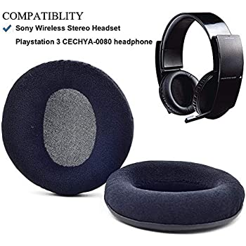 Velour Replacement earpads Ear pad Cushion Cover Pillow for Sony Playstation 3 PS3 Wireless Stereo CECHYA-0080 Headphones Headset