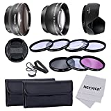 nikon d7000 filter kit - Neewer 52MM Lens & Filter Kit for NIKON DSLR ( D7100 D7000 D5200 D5100 D5000 D3300 D3200 D3100 D3000 D90 D80 ), Kit includes: (1)0.45x Wide Angle Lens + (1)2x Telephoto High Definition Lens + (1)Filter Kit (UV, CPL, FLD) + (1)Macro Close-Up Set(+1, +2, +4, +10) + (1)Tulip Lens Hood + (1)Center Pinch Lens Cap with Cap Keeper Leash (2)Filter Carrying Pouch + (1)Microfiber Cleaning Cloth