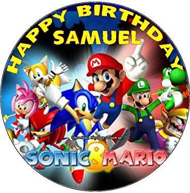 7,5 Sonic y Mario comestible - glaseado comestible ...