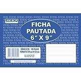 Ficha Pautada 6x9 15, 2x23, 0cm São Domingos, Multicor, pacote de 100
