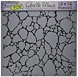 CRAFTERS WORKSHOP TCW-565 Organic Matter Mask Template, 12 by 12''