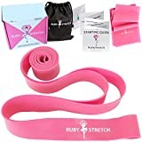 RubyStretch Ballet Stretch Bands - Stretching and Resistance Band Set for Dance, Ballet, Flexibility & Gymnastics Workout + Gift Box + Starting Guide + Travel Bag