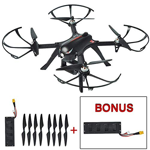 Mysterystone Bugs 3 Brushless RC Quadcopter Drone with 2 Batteries, 2 Sets of Blades, 500m Long Range Drone with GoPro Camera Mount 35min Flight Time Remote Control Wind Resistance Drones Black