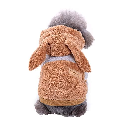 Pet Hoodie Coat Duseedik Cute Thick Rabbit Clothing Puppy Kitten Dog Transform -