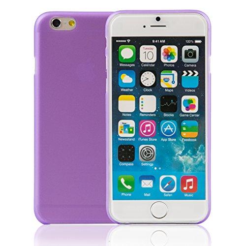 """iProtect housse 0,3mm de protection dur Hard Case mince mat transparent Apple iPhone 6 (4,7"""") en violet"""