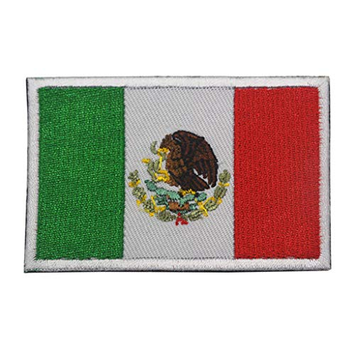 ShowPlus Mexico Flag Patch Military Embroidered Tactical Patch Morale Shoulder Applique