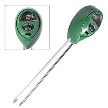 Gut 3 In Boden Wasser Feuchtigkeit 1 Ph Tester Boden Detektor Wasser Feuchtigkeit Licht Test Meter Sensor Für Garten Pflanze Blume Analysatoren Messung Und Analyse Instrumente