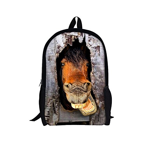 TOREEP Cool Horse Outdoor Animal School Backpack for - Sunglasses Own Design Wholesale Your