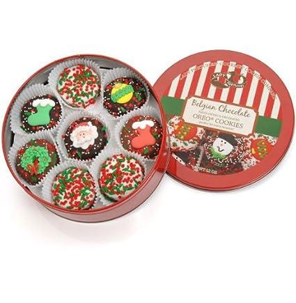 Amazon Com Christmas Wheel Of 16 Chocolate Dipped Oreos