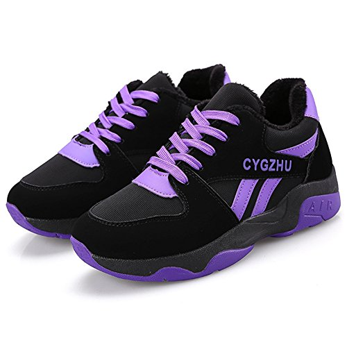 Femme Gym Outdoor Violet Semelle 40 Running Basket Fitness Suédé wealsex Sport Chaussure Epais 35 Course WYPTvB6Bq