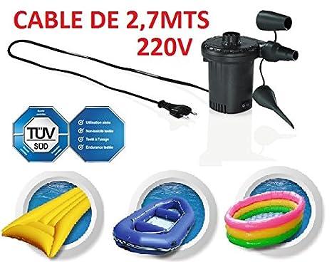 INFLADOR ELECTRICO 220V HINCHAR INFLAR COLCHON AIRE HINCHABLES CASA COMPRESOR INFLABLES PELOTAS COLCHONETAS BARCAS: Amazon.es