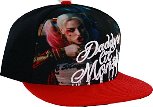 DC Comics Suicide Squad Logo Snapback Hat (Red/Black)