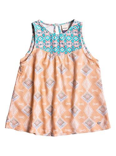 Roxy Girls Roxy Circus Town - Tank Top - Girls 7-14 - 10 - Pink Peach Nectar Sunset Diamond - Clothing Nectar
