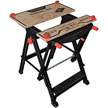 Keter Folding Compact Adjustable Workbench Sawhorse Work