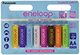 "NEW Panasonic Eneloop 4th generation eneloop ""Tropical Limited Edition"" 8 Pack AA NiMH Pre-Charged Rechargeable Batteries"