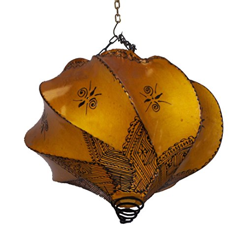 Henna Lamps & Sconces Handmade Henna Moroccan Leather Lamp Ceiling Wall Hanging Leather Ceiling Light