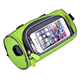 Bicycle Bags Yazer Cycling Cylindrical Portable Front Handlebar Bag with Transparent Pouch for Riding and More Outdoor Activities
