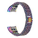 Wristwatch Replacement Band For Fitbit Charge 2 Smart Watch,TenYun Steel Bead Style Bracelet Smart Watch Band Strap For Fitbit Charge 2