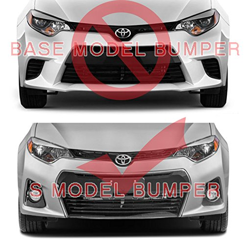A-Spec Style Front Bumper Lip For Toyota Corolla S 2015-UP PULIps TYCR15ASPFAD