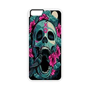 Green And Pink Bird Skull Case Cover For Apple Iphone 4/4S Printed Case Cover For Apple Iphone 4/4S Cheap {White}