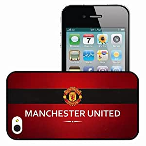 Personalized iPhone 4 4S Cell phone Case/Cover Skin Manchester United Logo Background Football Black
