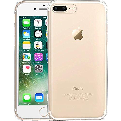 iPhone 7 Plus (5,5 Zoll) Silikon Hülle Case Clear TPU Schutzhülle durchsichtig transparent clear Original von wortek