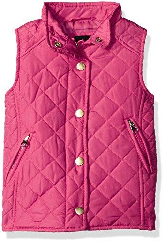 MeJane Kids Little Girls' Quilted Barn Vest, Hot Pink, 12