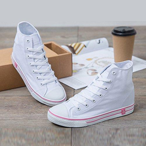 Primavera Clásico Blancos Y Alta Color Ayuda Chica Sandales Verano Lona Zapatos Mujer De Pequeños E Planos Caramelo UBdzztwq