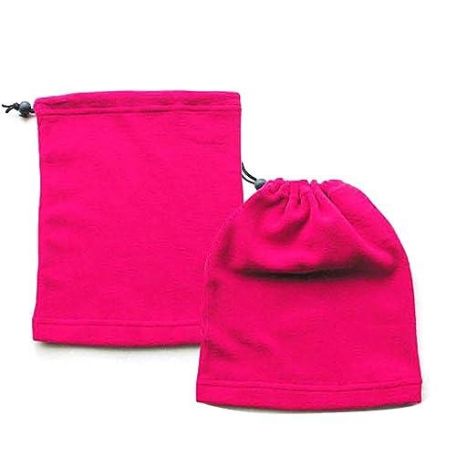TRIXES 3-IN-1 Scalda collo, sciarpa e berretto in pile, unisex, abbigliamento termico per lo sci