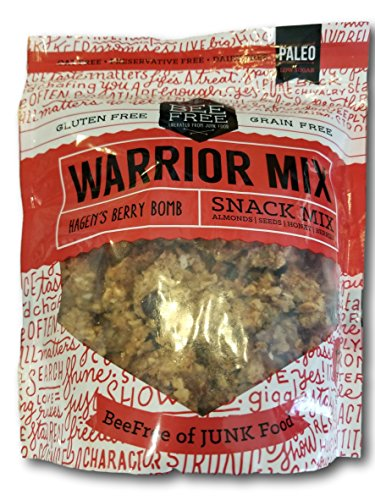 BEE FREE Warrior Mix- Hagens Berry Bomb- Almonds, Seeds, Honey, Berries   Gluten Free and Grain Free