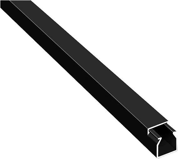 Canales para cables (10 m, autoadhesivos, con cinta adhesiva de espuma), color negro, Negro: Amazon.es: Bricolaje y herramientas