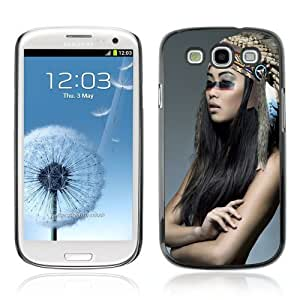 Designer Depo Hard Protection Case for Samsung Galaxy S3 / Beautiful Native American Girl
