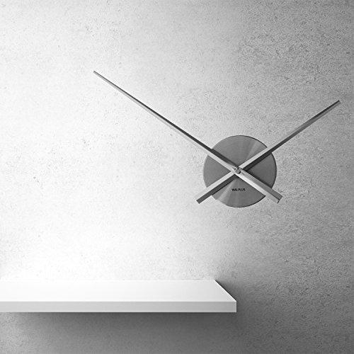 WALPLUS Designer Flexi Minimal Wall Clock Silver -