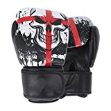 Glove Black Boxing Skull Sports Leather Gloves