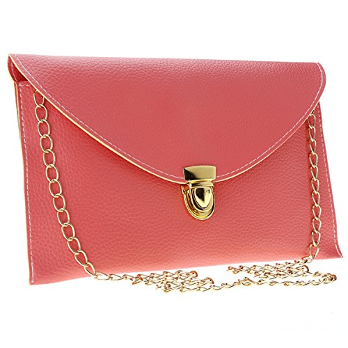 Chain Women Red Evening Bag Ardisle Style Large Watermelon Clutch Leather Wedding Purse Ladies Envelope wqwxBfPZ8
