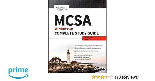 Amazon Mcsa Windows 10 Complete Study Guide Exam 70 698 And