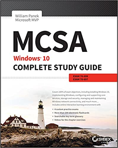 amazon com mcsa microsoft windows 10 study guide exam 70 697 ebook